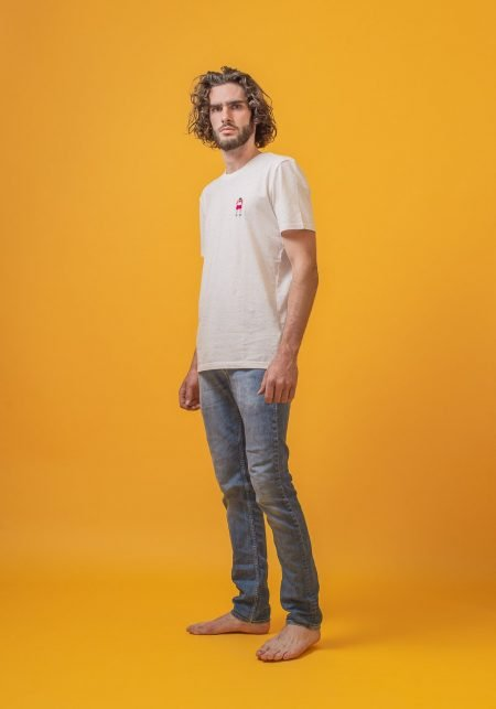FRED + RHINO Fat Tourist Photography Tshirt Ecru Denim