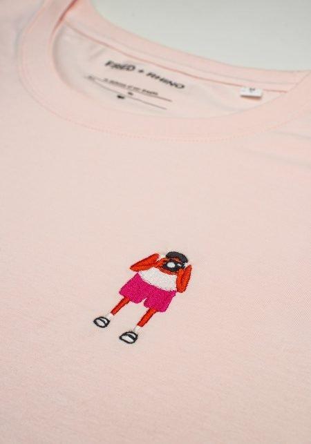 FRED + RHINO Fat Tourist Photography Tshirt Pink Closeup
