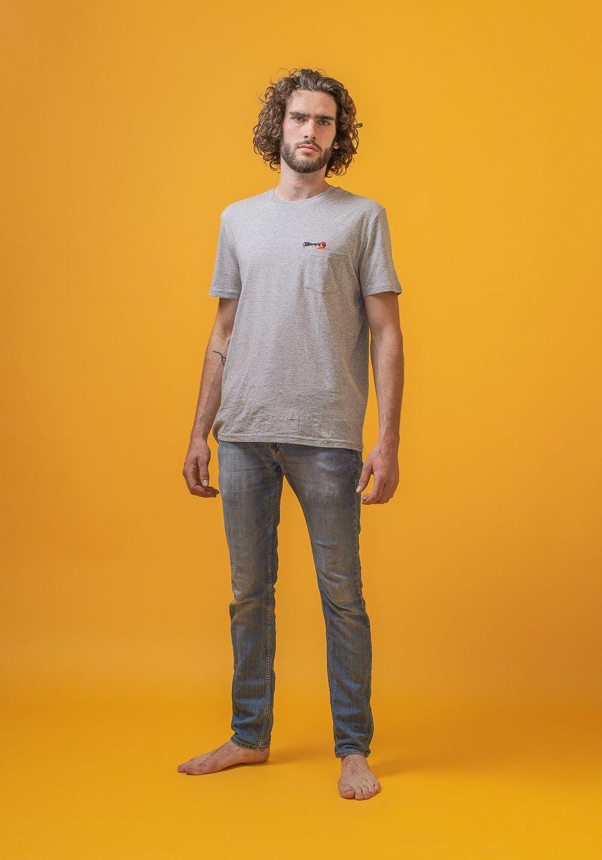 FRED + RHINO Pocket Photographer Photography Tshirt Grey