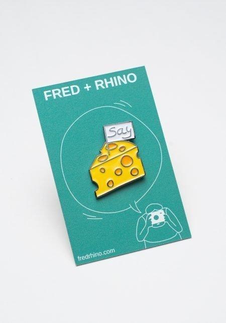 Say Cheese Enamel Pin FRED + RHINO